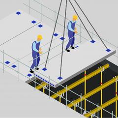 S33 - Assurer la stabilité des dalles alvéolaires précontraintes en phase provisoire
