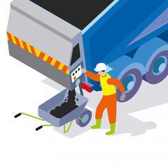 S478 - Distribuer mécaniquement les enrobés depuis un camion-benne