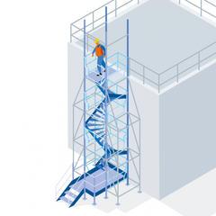 S362 - Un escalier tournant MDS pour faciliter les circulations