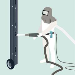 S36-Décaper des surfaces en acier en se protégeant des poussières