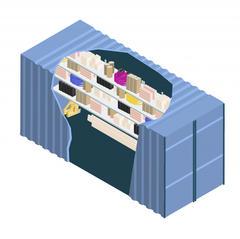S683 - Des containers aménagés pour stocker les matériels et matériaux sur le chantier