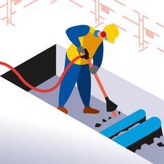 S509 - Utiliser une pioche à air pour les travaux de terrassement