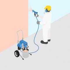S144 - Réaliser les travaux de peinture par pistolet et appareils de pulvérisation sous haute pression sans air