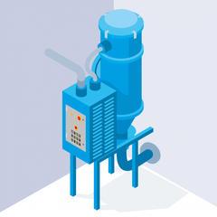 S280 - Une centrale d'aspiration pour aspirer les poussières de bois lors de l'utilisation des machines portatives