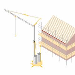 S743 - Une grue à montage rapide pour approvisionner au mieux les chantiers